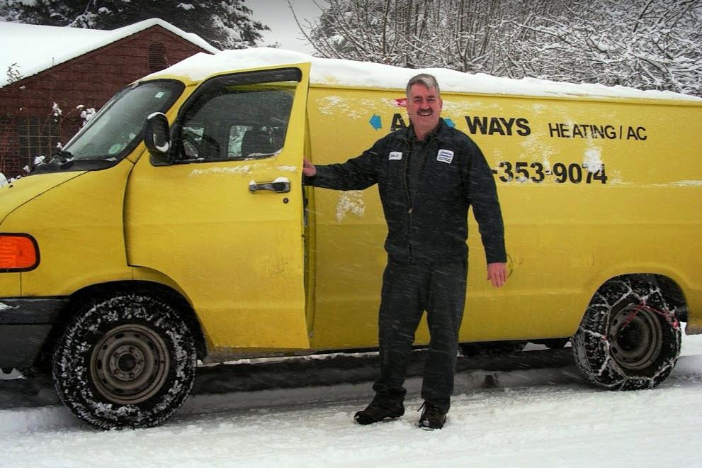 Ken, the owner with work van